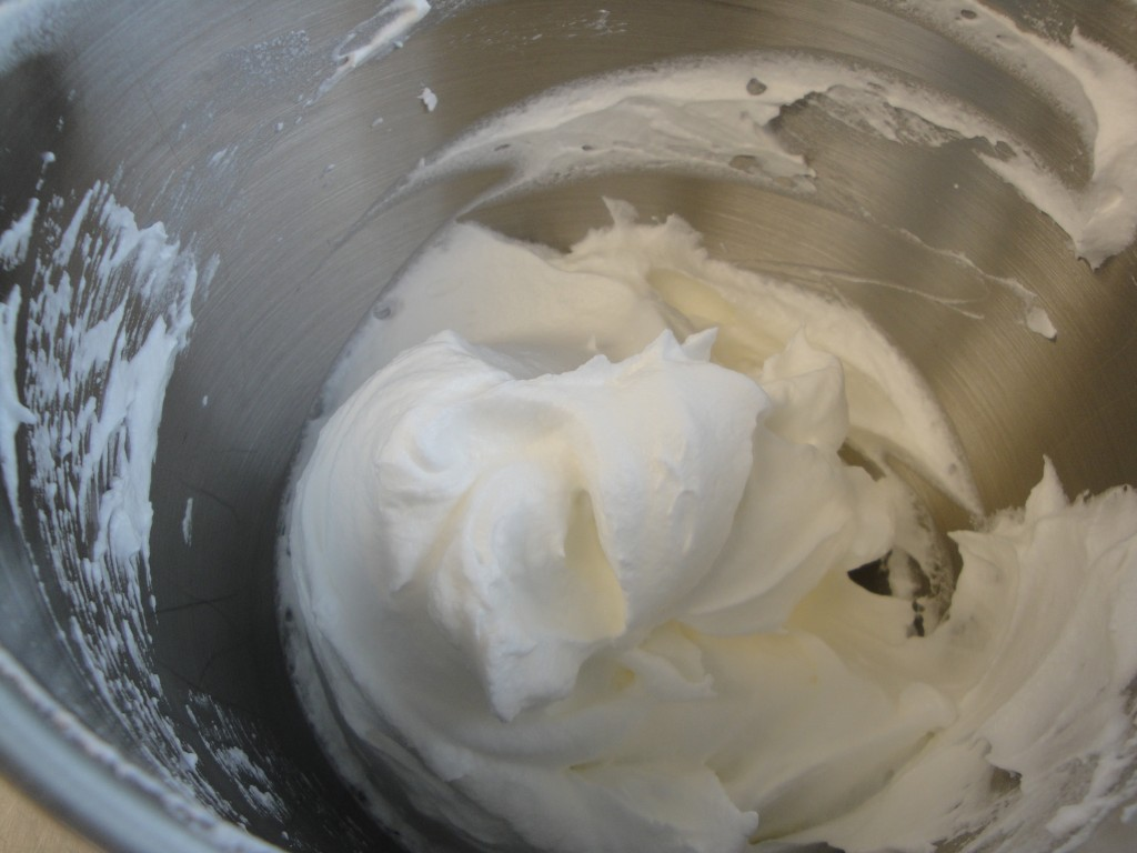 stiff whipped egg whites