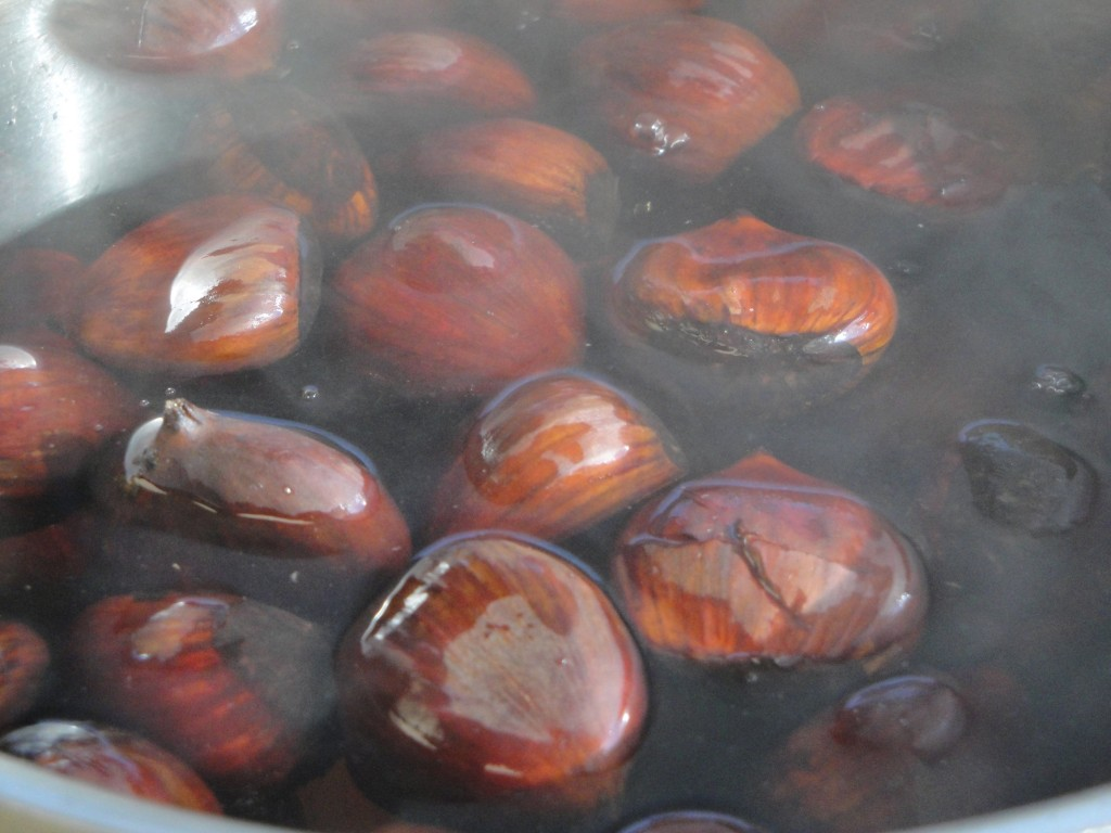 boiling chestnuts
